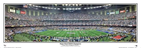 Super Bowl Xxxvi 2002 Patriots Vs Rams Panoramic Poster
