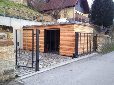 Geräteschuppen Gerätehaus Metall Holz Design Workaholic 3