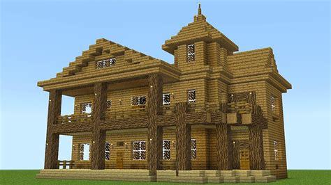 minecraft   build  huge wooden mansion razorxgamer