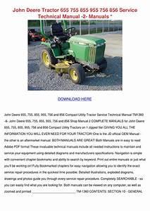 John Deere Tractor 655 755 855 955 756 856 Se By Cassie