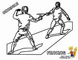 Coloring Pages Fencing Olympic Sports Games Summer Olympics Fencer Yescoloring Fence Activites Colouring Fencers Template Results sketch template