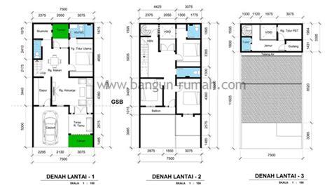 desain rumah ukuran tanah    contoh