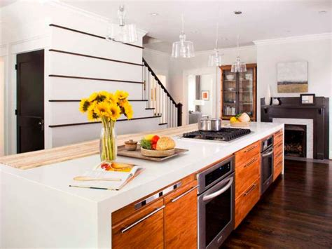 contemporary kitchen island  cooktop oven bar