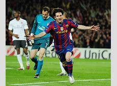 Champions Leo Messi reta a la eternidad y mete al Barça