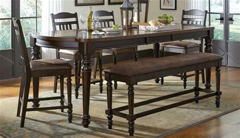 espresso counter height dining table mulligan 5 piece counter height dining table set in latte