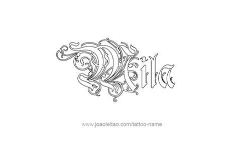 Mila Name Tattoo Designs