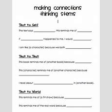 Go Fourth! With Mrs Owens Making Connections (& A Freebie!)  Reading  Pinterest Texts