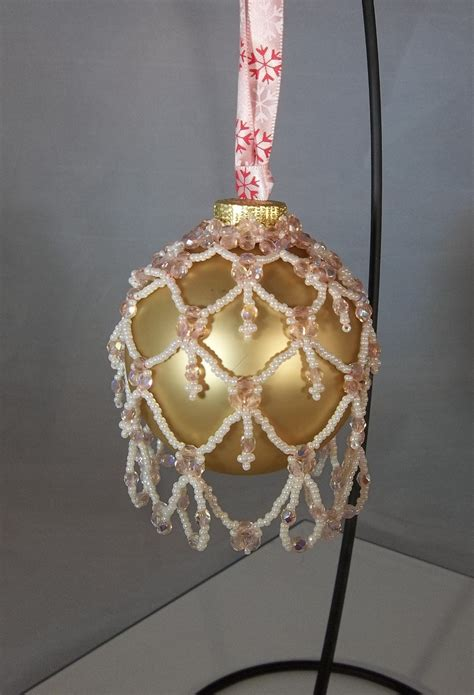 beaded ornament cover crafts n projects pinterest