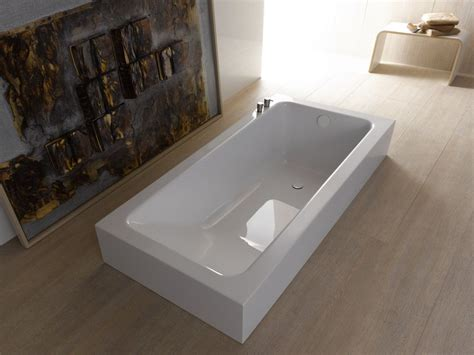 semi inset bathtub betteone relax highline by bette design