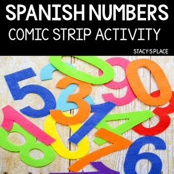 Spanish Numbers Comic Strip Activity (Numbers 0-30 ...