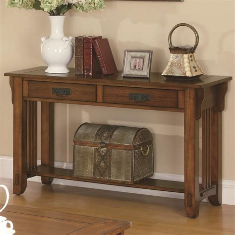 Table With Sofa by Coaster Occasional 702009 2 Drawer Sofa Table With