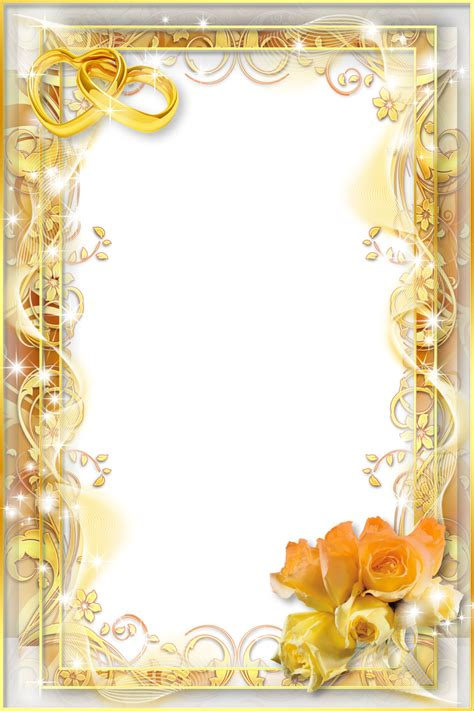 yellow wedding png photo frame gallery yopriceville high quality