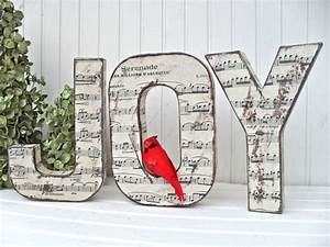 joy christmas word decoration With joy christmas letters