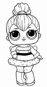Lol Coloring Pages Surprise Disco Winter Babe Sleigh Doll Printable Dolls Toys Books Fairy Barbie sketch template