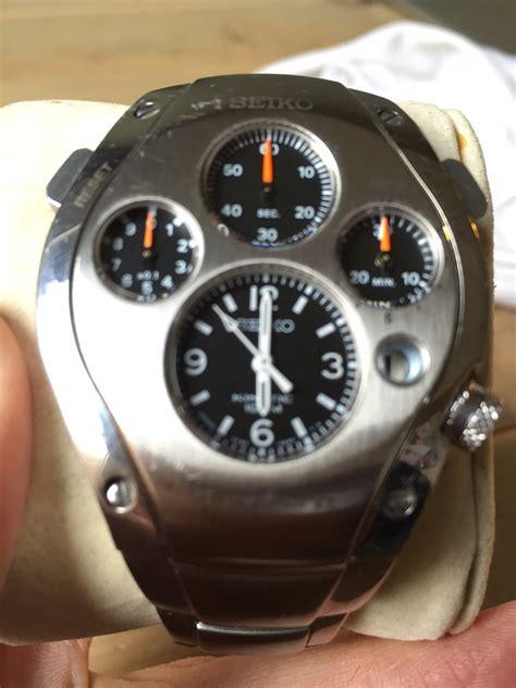 fs seiko sportura kinetic chronograph slq  limited
