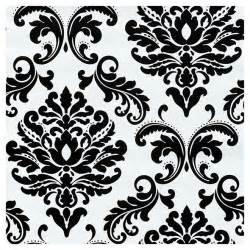 Décolleur Papier Peint Black Et Decker by Papier Peint 224 Motif Damass 233 20 5 Quot X 18 Noir Blanc Rona