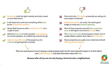 Benefits To Buying Property by Pros Cons Of Buying New Property Mind The