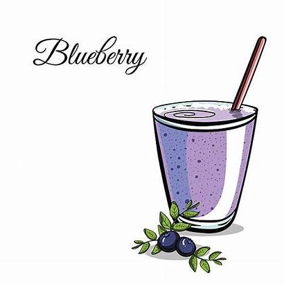 Smoothie Blueberry Blueberries Clip Illustrations Vector Ingredient