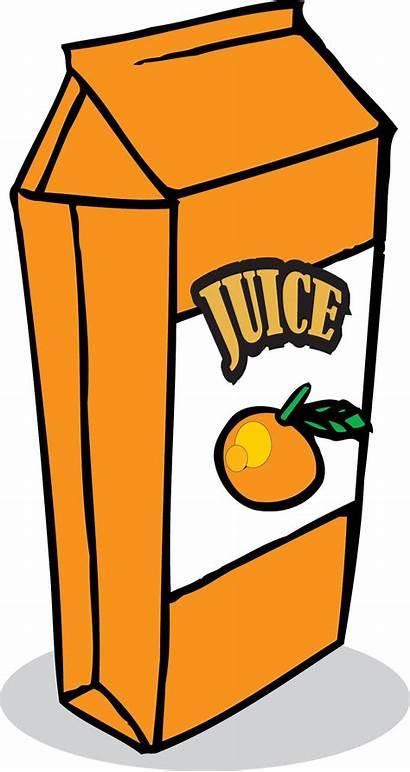 Juice Clipart Orange Clip Carton Cartoon Box