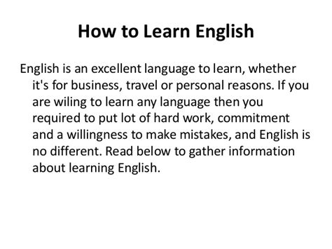 How To Learn English Speaking Fluently