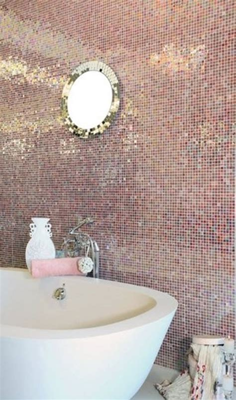 pink glitter bathroom tiles ideas  pictures
