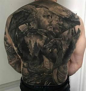 Tattoo Ideen Rücken : vikings landschaft auf dem r cken skandinavisches tattoo wikinger krieger tattoos und tattoo ~ Watch28wear.com Haus und Dekorationen