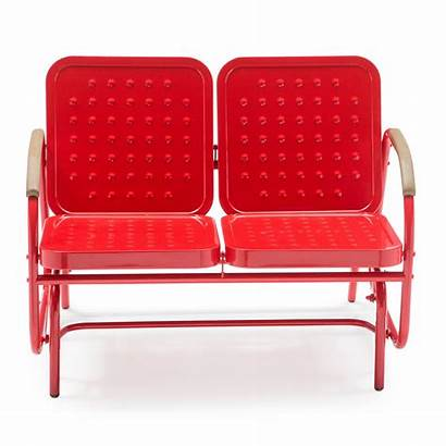 Glider Metal Double Benches Outdoor Retro Steel
