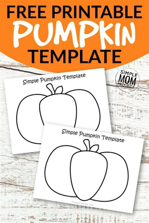 printable small  large pumpkin template outline