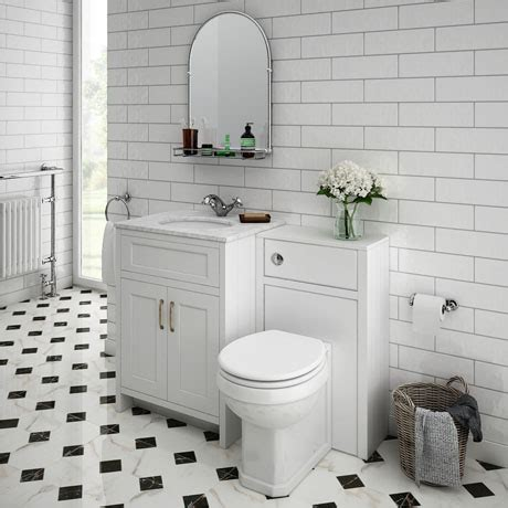 Bathroom Vanity Packages by Chatsworth White Marble Traditional White Vanity Unit