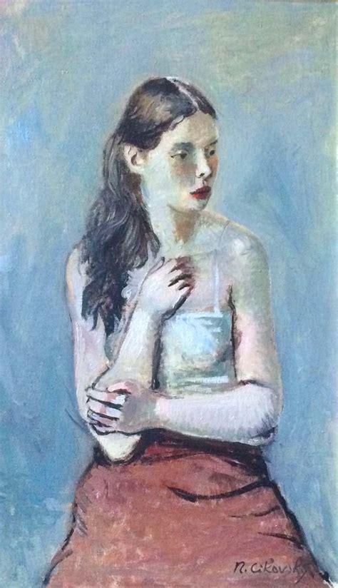 nicolai cikovsky russian american portrait  modernism