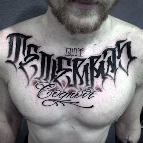 tattoo lettering designs  men manly inscribed ink