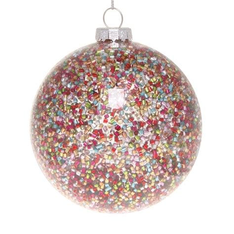 28 best multi coloured baubles festive 8cm sequin