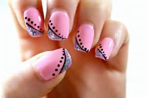 Elegant pink nail art tutorial perfect for short nails