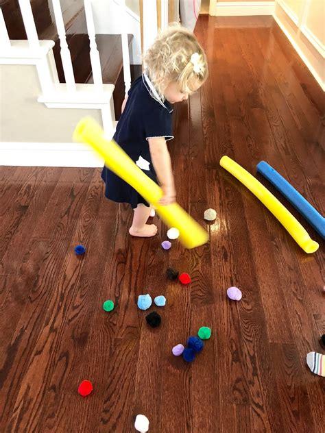 pom pom push indoor game  kids toddler approved