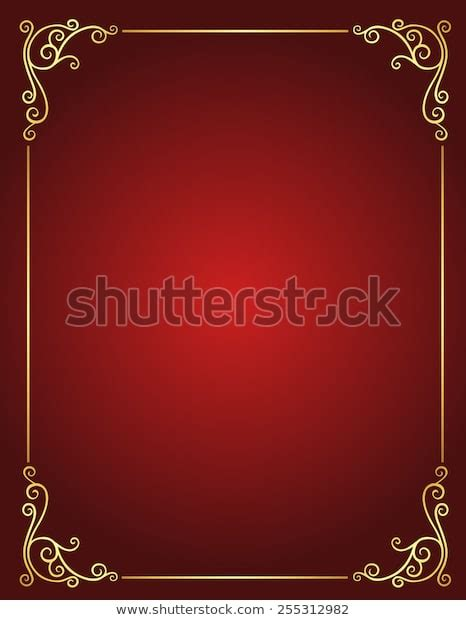 elegant gold red maroon color blank stock vector royalty