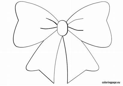 Bow Template Coloring Bows Printable Pages Christmas
