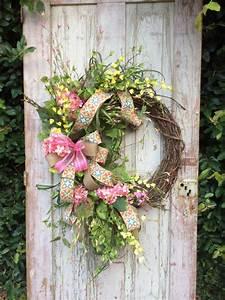 front, door, wreath, hydrangea, wreath, pink, hydrangea, wreath