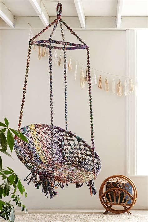 Hanging Papasan Chair Indoor by Modern Hanging Chairs Take The Coziness Outside