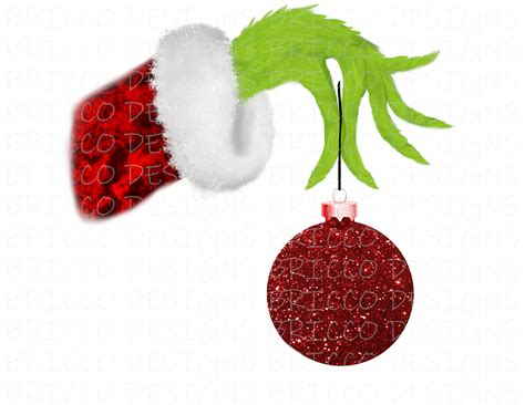 grinch hand  ornament png sublimation design etsy