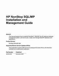 Sql  Mp Installation And Management Guide