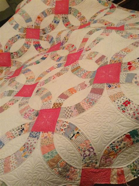 timberlinequilting vintage wedding ring quilt