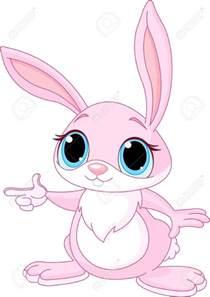 Cute Pink Cartoon Bunny