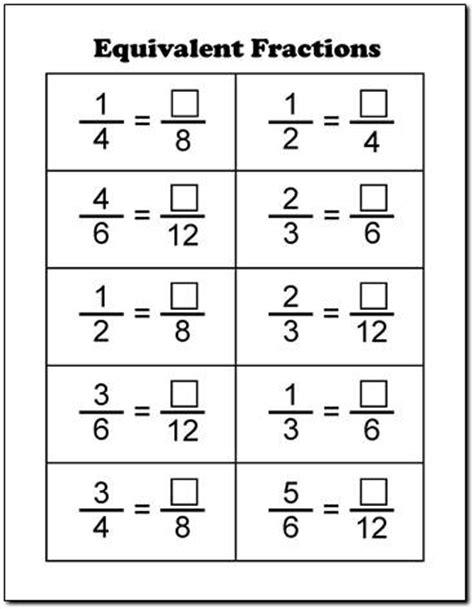 fraction equivalent worksheets ks2 fraction worksheets