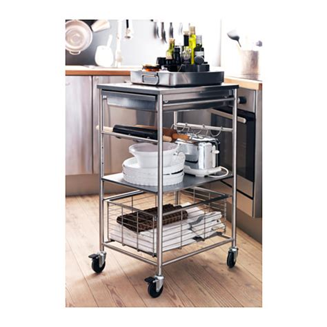 stainless steel kitchen island ikea grundtal kitchen trolley stainless steel 54x41x90 cm ikea