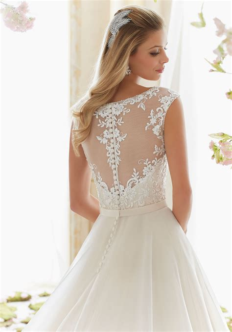 morilee wedding dress beaded embroidery on organza wedding dress style 6836