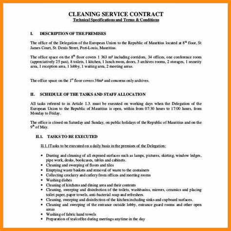 8 commercial cleaning contract template driver resume