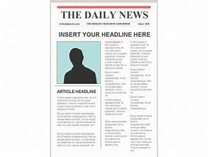 portrait powerpoint With newspaper editorial template