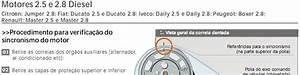Autocar  Diagrama Correia Dentada Motores 2 5 E 2 8 Diesel
