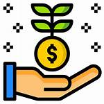 Growth Money Icon Foreign Lockdown Income Bring