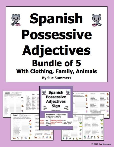 Spanish Possessive Adjectives Bundle Of 4 Worksheets And. How To Be Successful In The Music Industry. Social Media As A Marketing Tool. Call Center Answering Services. Apartment Management Magazine. Construction Management Degree Online Cost. How To Find Programmers Insurance Rochester Ny. View Transaction Log Sql Server 2008. Best Intranet Solution Elmwood High School Wi